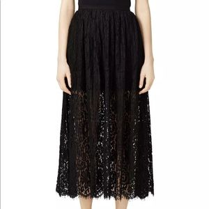 NWOT Keepsake Stand Black Lace Maxi Skirt S $267